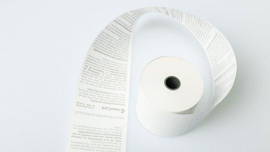EC Cash rolls of thermal paper